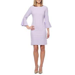 3/4 Bell Sleeve Sheath Liz Claiborne Dress